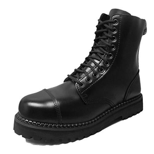 Grinders Women Bulldog CS 10 Eyelet Derby Boots Black UK6/EU40 (Retro Mod Brogues)