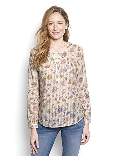 Orvis Women's Dobby Antique Floral Shirt, Small