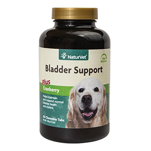 NaturVet Healthy Bladder Support Supplement for Dogs, Chewable Tablet with Cranberry, Healthy Bladder Control and Urination, Immune System Support, Made
