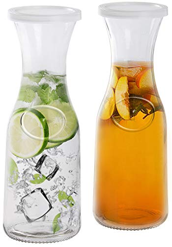 Glass Beverage Pitcher Carafe