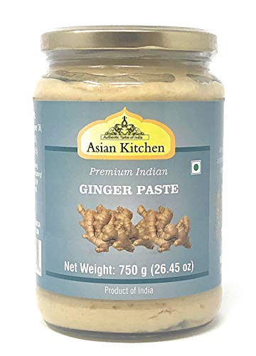 Asian Kitchen Ginger Cooking Paste 26.5oz (750g) ~ Vegan | Glass Jar | Gluten Free | NON-GMO | No Colors | Indian Origin
