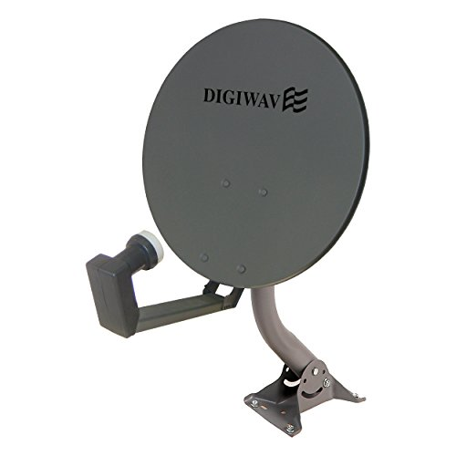 Homevision Technology Satellite Dish Digiwave 18 Inch Offset Satellite Dish, Gray (DWD45T) by Homevision Technology