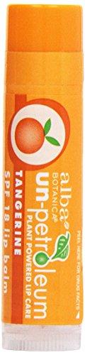 Alba Botanica, Un-Petroleum Tangerine Lip Balm, SPF 18, 0.15 oz