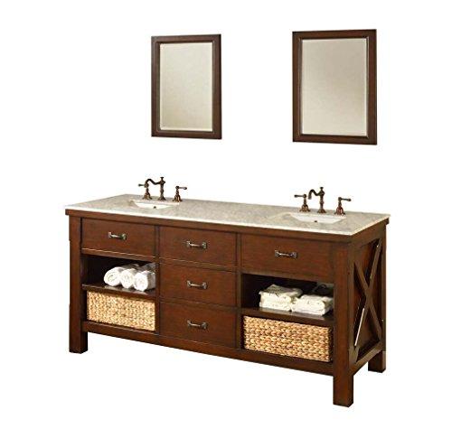 Infinity Bathroom Vanity - Direct Vanity Sink 70D1-EsWc Xtraordinary Spa 70
