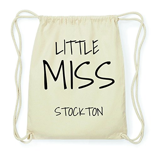 JOllify STOCKTON Hipster Turnbeutel Tasche Rucksack aus Baumwolle - Farbe: natur Design: Little Miss 2ezCMOT