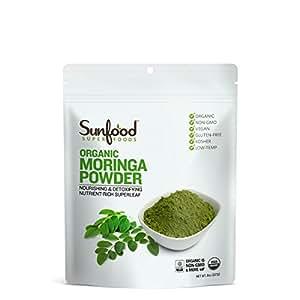 Sunfood Moringa Powder, 8oz, Organic, Raw