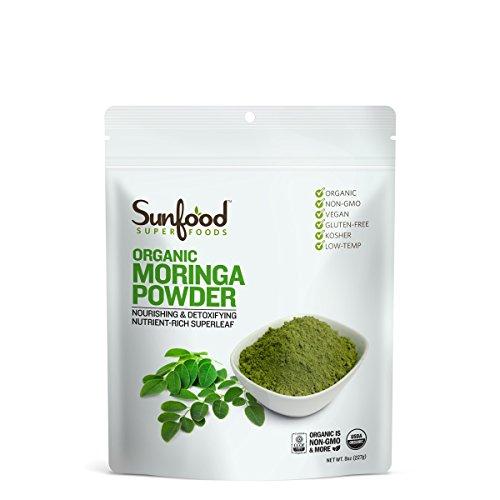 Sunfood Moringa Powder, 8 Ounces, Organic (Moringa Green Superfood)