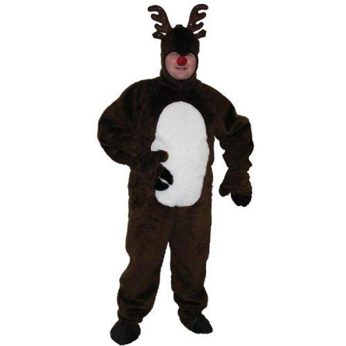 Flashing Nose - Reindeer Adult Costume (Xlarge Adult)