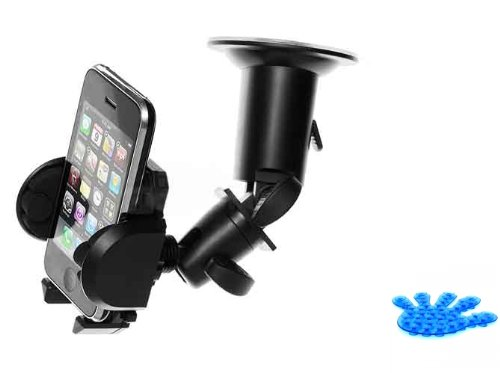 Universal Windshield Car Window Mount Dock Cradle for HTC HD2, Evo 4G, HD7, Evo Shift 4G, Thunderbolt 4G, Inspire 4G, Evo 3D, Sensation 4G, Droid Incredible 2, 7 Trophy, Wildfire S, Rhyme, Amaze 4G, Hero S (Comes with Suction Phone Holder) (Kit Shift Hd2)