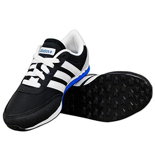 adidas Neo Label V RACER Nylon Zapatillas Niños Guantes Joven Negro Blanco negro