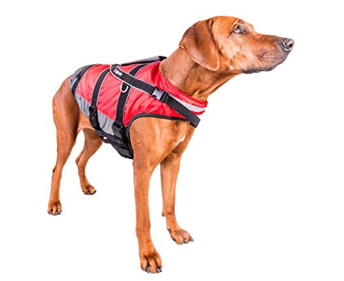 """Non-stop dogwear """"Safe Life Flotation Vest Jacket With Professional Human Grade Material & Safety Handle (L)"""