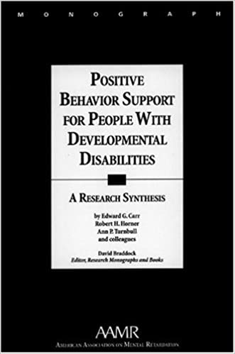 positive behavior support for people with developmental disabilities a research synthesis monographs of the american association on mental retardation