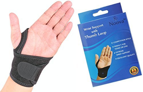 Wrist Support - Noova Wrist Wraps with Velcro and Thumb Loop Wrist Bands for Sports Gym Activities by noova