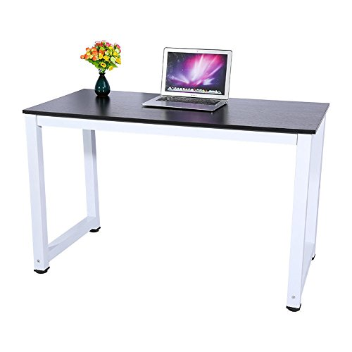 Computer Desk Black Wood PC Laptop Table Workstation Study Home Office Furniture By Allgoodsdelight365