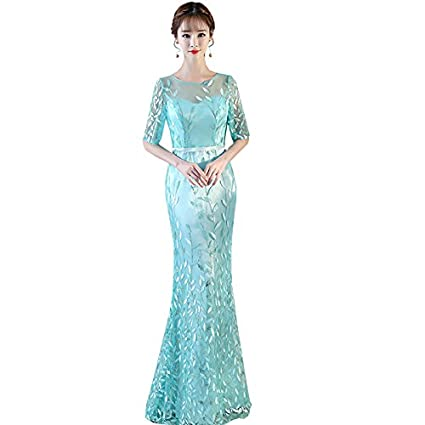 86106f5ce JKJHAH Vestido De Noche Mujer Banquete Elegante Vestido De Cola De Pez  Vestido De Fiesta