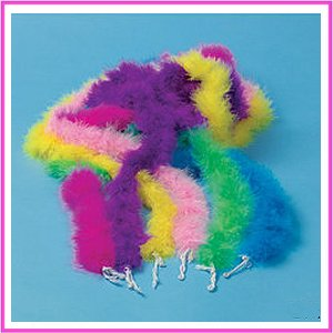 Mini Marabou feather BOA - kids dress up party BOAS - 12 pc assortment by private label