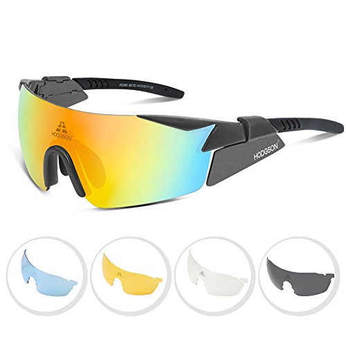 HODGSON Sport Polarized Sunglasses for Men or Women , Windbreak UV400 Protection Sports Glasses with 5 Interchangeable Lenses for Driving, Cycling, Running and Golf - Are Best What Golf The For Sunglasses