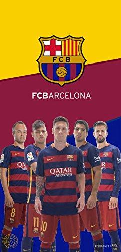 FC Barcelona equipo de fútbol toalla de playa 5 jugadores BT 007: Amazon.es: Hogar