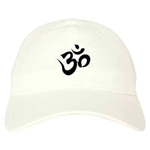 Kings Of NY Om Ohm Symbol Dad Hat Baseball Cap White