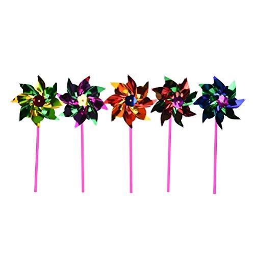 Lawn Pinwheels, Party Pinwheels Windmill Rainbow Pinwheel DIY Pinwheels Set for Kids Toy Garden Lawn Decor, 100 -