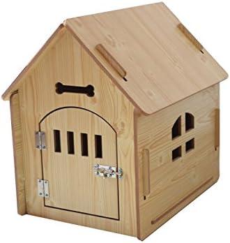 Amazon.com: tangdou caseta de perro madera maciza pequeños y ...