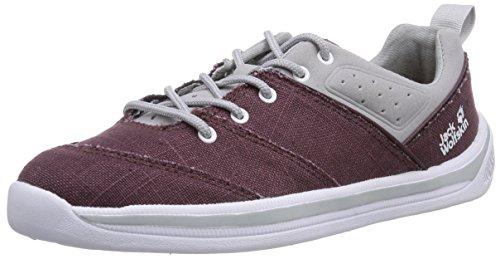 Jack Wolfskin LACONIA LOW W Damen Sneakers Rot (mulberry 2130)