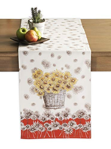 Maison d' Hermine Bagatelle 100% Cotton Table Runner 14.5 Inch by 72 Inch