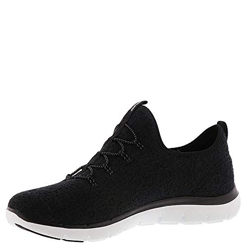 para Mujer Skechers Clear Flex Appeal Negro blanco Cut xn446pO1wa