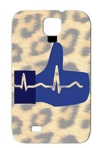 TPU Hearts Love Like Battement Coeur Ligne De La Main Case For Sumsang Galaxy S4 Navy