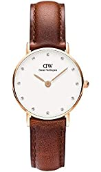 Daniel Wellington Women's 0900DW St. Mawes Stainless Steel Watch with Brown Strap