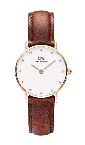 Daniel-Wellington-0900DW-Reloj-con-correa-de-acero-para-mujer-color-blanco-gris