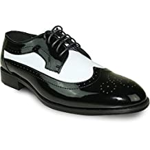 JEAN YVES Dress Shoe JY03 Wing Tip Two-Tone Tuxedo for Wedding, Prom and Formal Event