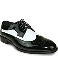 289dbbfc65c Dress Shoe JY03 Wing Tip Two-Tone Tuxedo for Wedding