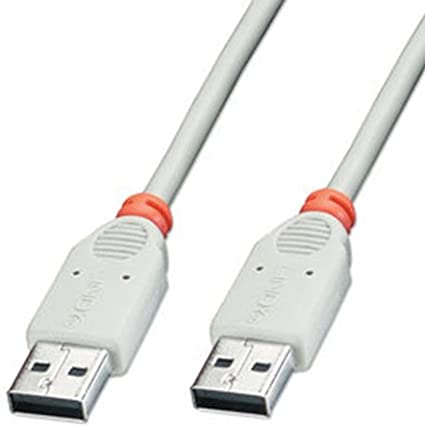 TALLA 2 m. LINDY - Cable de conexión AA (2 m, USB 2.0), Color Gris
