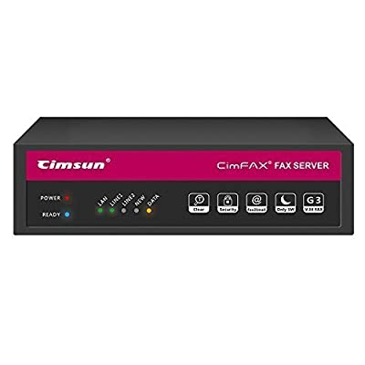 CIMSUN CimFAX Professional H5 Fax from PC to Fax Machines/Server/Client/Online Fax Fax2email V.34 100 Users for Windows xp/7/8/10 4GB storage