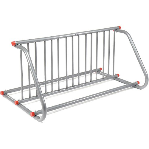 59-3/4'L Grid Bike Rack, Double Sided, Powder Coated Galvanized Steel, 10-Bike Capacity