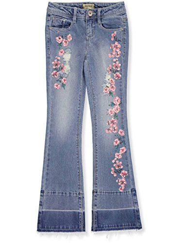 Squeeze Big Girls' Boot Cut Jeans - Medium Stone, (Bootcut Girls Jeans)