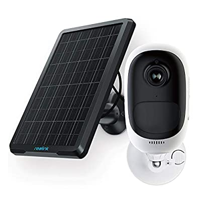 Reolink Argus Pro+Solar Panel | Rechargeable Battery/Solar Powered Outdoor Wireless Security Camera | 1080p HD Wire-Free 2-Way Audio Night Vision Alarm Alert & PIR Motion Sensor w/Built-in SD Slot