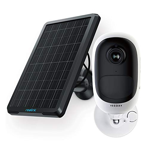 REOLINK Outdoor Security Camera Rechargeable Battery 1080P Wireless Surveillance Support Cloud Google Assistant Night Vision PIR Motion Detection SD Slot | Argus Pro+Solar Panel