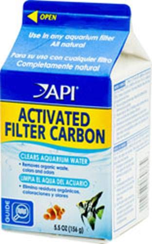 API ACTIVATED FILTER CARBON Aquarium Filtration Media 5.5-Ounce Box Api Activated Filter Carbon