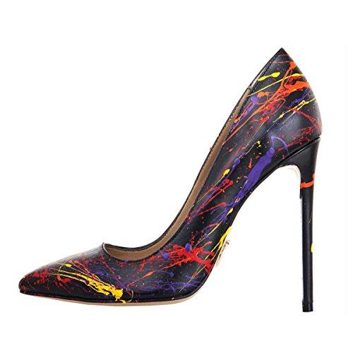 Rezalution by Janiko Color Instinct XBR007 Femmes High-Heels Noir/Multicolore