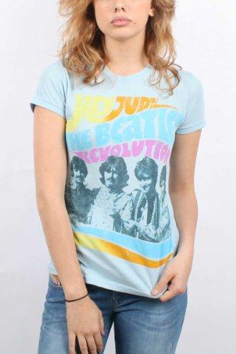 Beatles, The - Camiseta - Mujer - Beatles, The Beatles - Hey Jude Revolution Juniors / Da donna (Camiseta) Azul