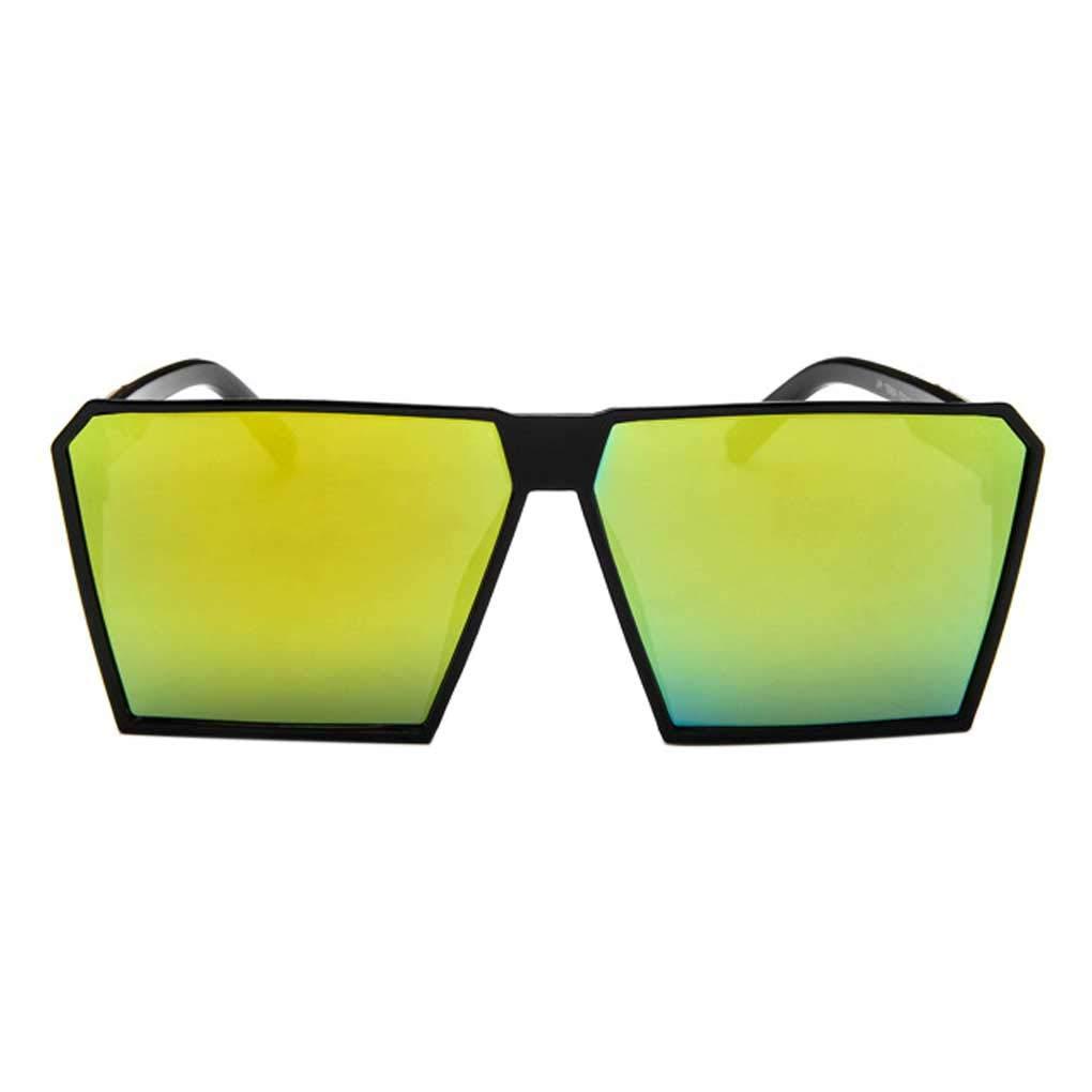 Big Square Sunglasses Men Male Dazzling Eyeglasses Trendy Retro Eyewear Shades Large Frame