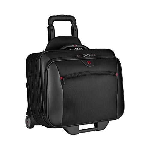 Victorinox Nylon Briefcase - Wenger Potomac Rolling Case Blk Up To 17IN Laptop with day Case