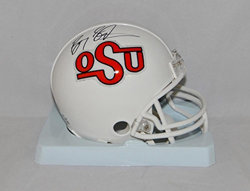 Barry Sanders Autographed OSU Cowboys Riddell TB Mini Helmet- W Auth - JSA Certified - Autographed College Mini Helmets (Authentic Tb Mini Helmet)