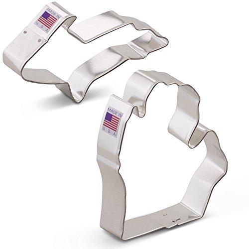 Upper & Lower Michigan Cookie Cutter Set - 2 piece - Ann Clark - US Tin Plated Steel