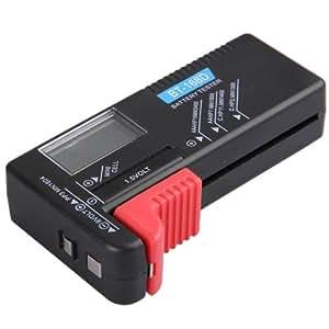 Comprobador Tester Carga para Pilas Batería Pantalla LCD Universal