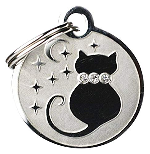 """GoTags Pet ID Designer Dogs & Cats Starry Moon Pet Tags, 1"""" x 1"""""""
