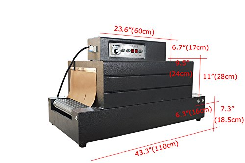 B07Q9L34M7 Intbuying 220V Automatic Heat Film Shrink Wrap Tunnel Electric Packaging Machine 51ZRtxrgZjL