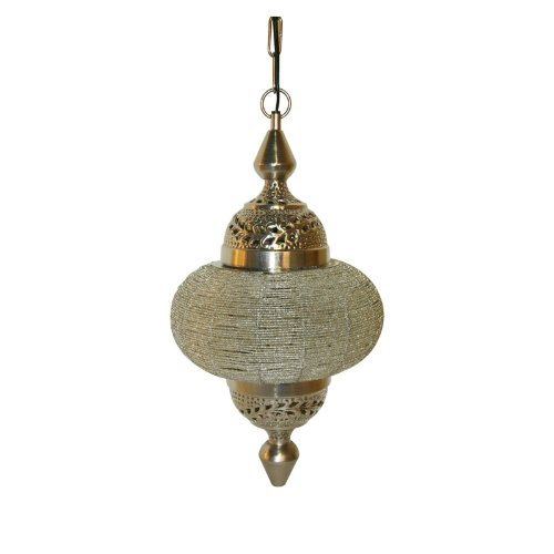 LightMakers SOARAYA Hanging Lamp in Nickel with Clear Beads, 10 x 19.5'
